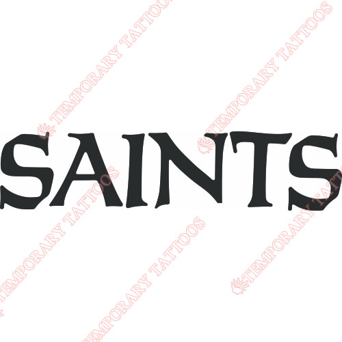 New Orleans Saints Customize Temporary Tattoos Stickers NO.612