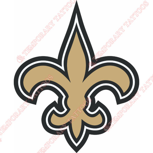 New Orleans Saints Customize Temporary Tattoos Stickers NO.613