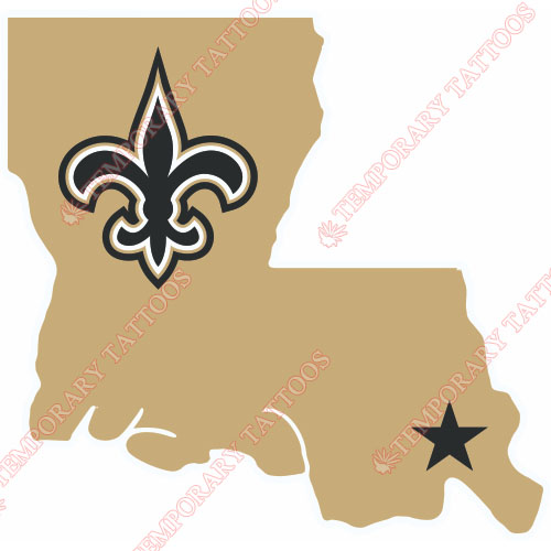 New Orleans Saints Customize Temporary Tattoos Stickers NO.615