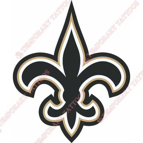 New Orleans Saints Customize Temporary Tattoos Stickers NO.616