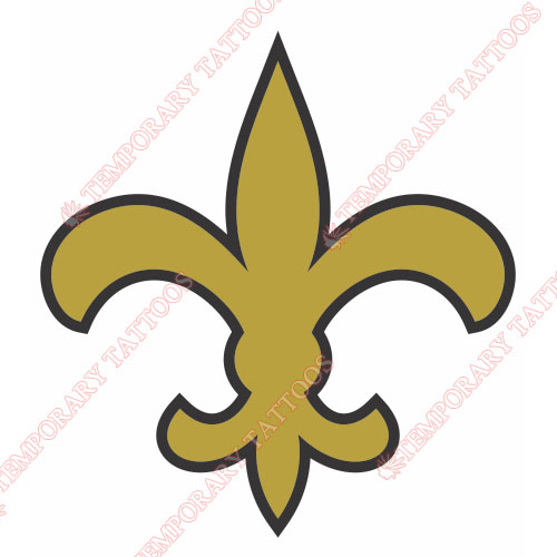 New Orleans Saints Customize Temporary Tattoos Stickers NO.617