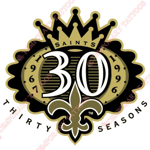 New Orleans Saints Customize Temporary Tattoos Stickers NO.618
