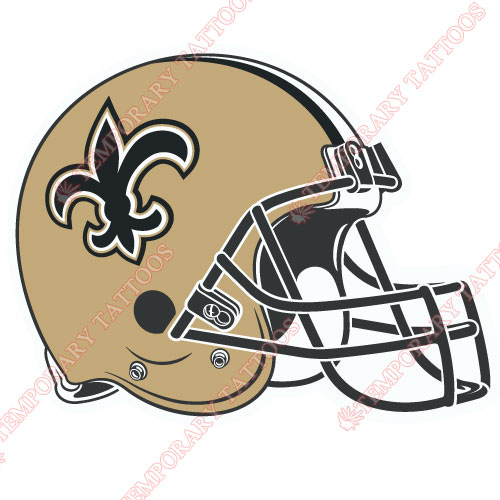 New Orleans Saints Customize Temporary Tattoos Stickers NO.619