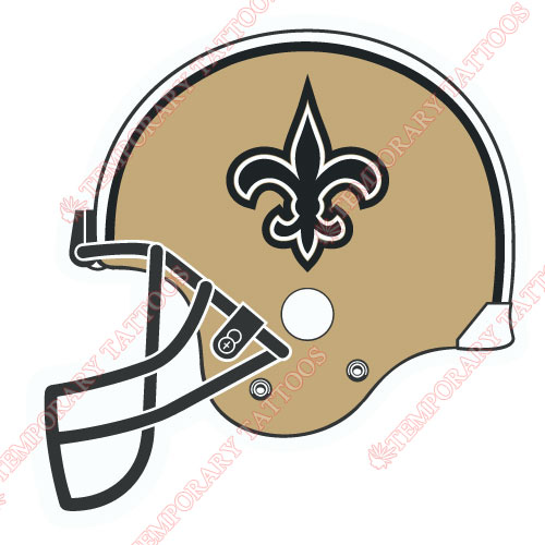 New Orleans Saints Customize Temporary Tattoos Stickers NO.622