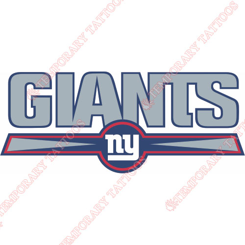 New York Giants Customize Temporary Tattoos Stickers NO.625