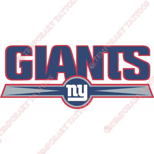 New York Giants Customize Temporary Tattoos Stickers NO.627