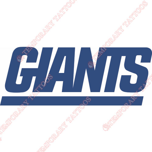 New York Giants Customize Temporary Tattoos Stickers NO.629