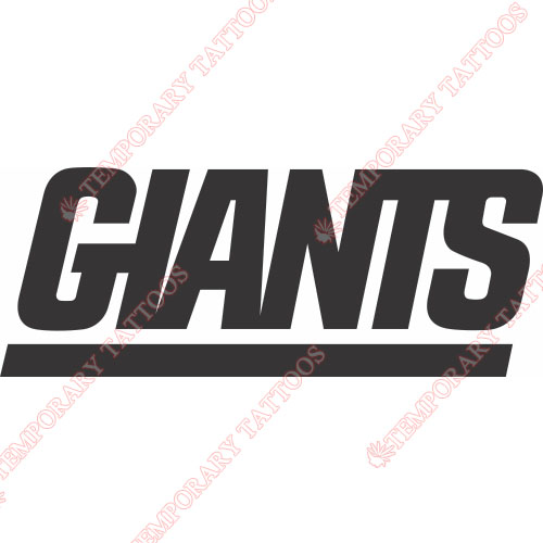 New York Giants Temp Tattoos Customize Temporary Tattooskids Fake