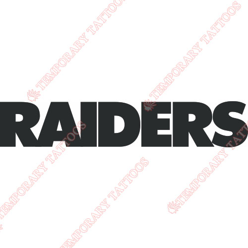 Oakland Raiders Customize Temporary Tattoos Stickers NO.664