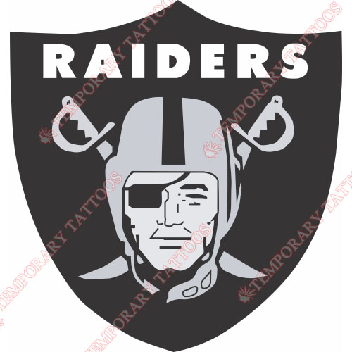 Oakland Raiders Customize Temporary Tattoos Stickers NO.665