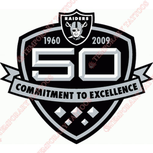 Oakland Raiders Customize Temporary Tattoos Stickers NO.666