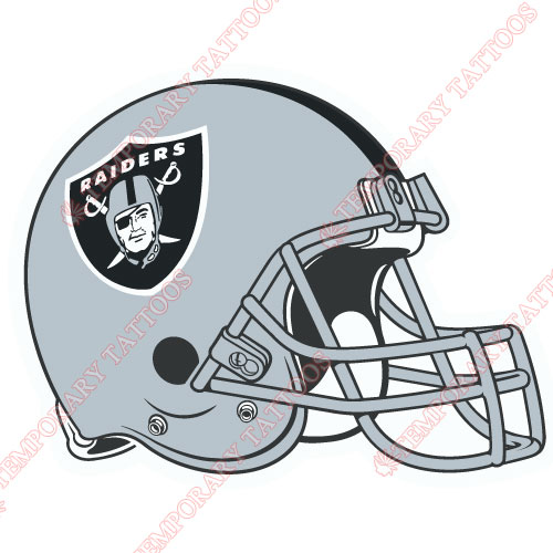 Oakland Raiders Customize Temporary Tattoos Stickers NO.667