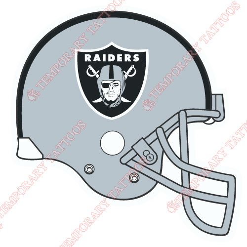 Oakland Raiders Customize Temporary Tattoos Stickers NO.669