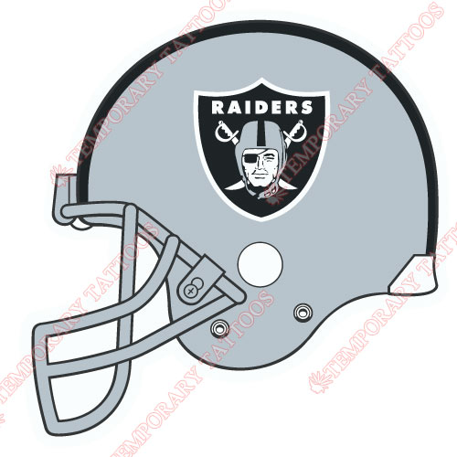Oakland Raiders Customize Temporary Tattoos Stickers NO.670