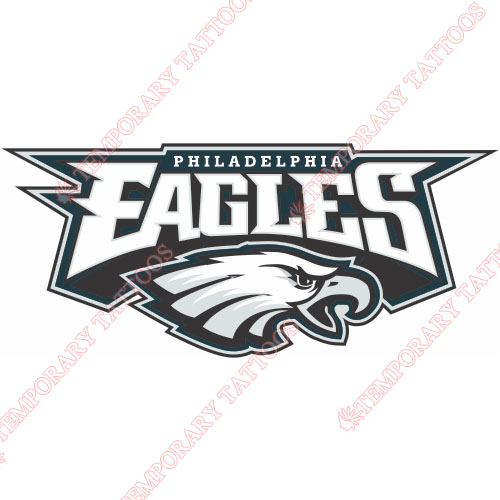 Philadelphia Eagles Customize Temporary Tattoos Stickers NO.673