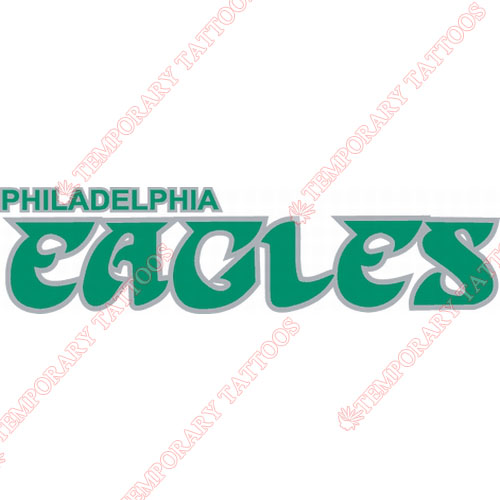 Philadelphia Eagles Customize Temporary Tattoos Stickers NO.674