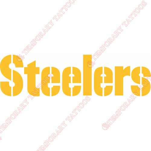 Pittsburgh Steelers Customize Temporary Tattoos Stickers NO.681