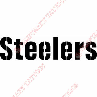 Pittsburgh Steelers Customize Temporary Tattoos Stickers NO.682
