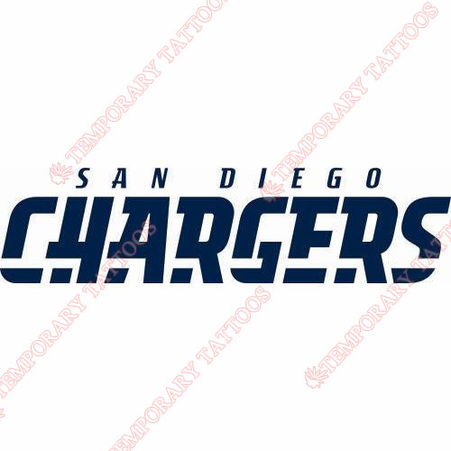 San Diego Chargers Customize Temporary Tattoos Stickers NO.721