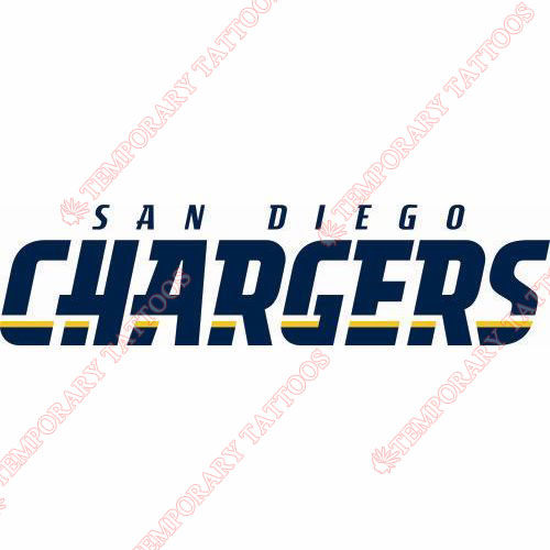 San Diego Chargers Customize Temporary Tattoos Stickers NO.722