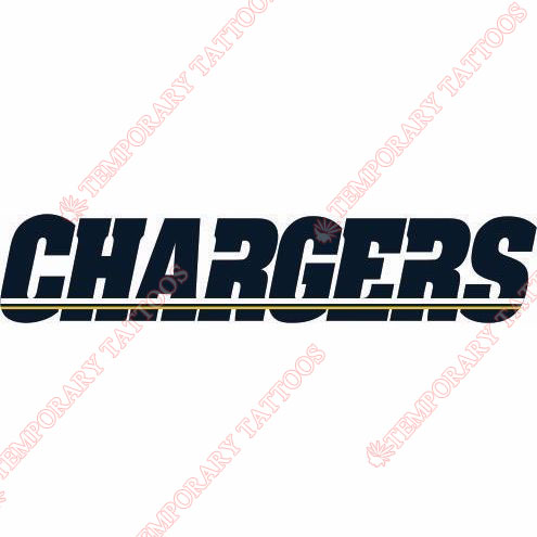 San Diego Chargers Customize Temporary Tattoos Stickers NO.723