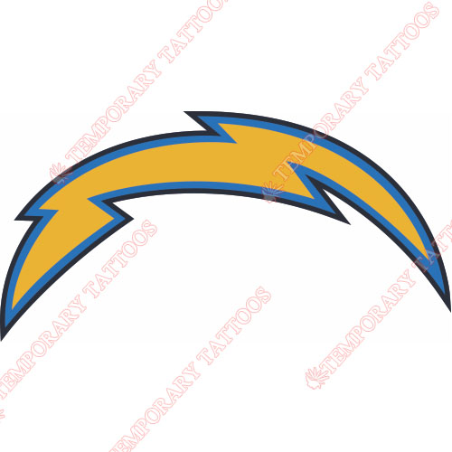 San Diego Chargers Customize Temporary Tattoos Stickers NO.724