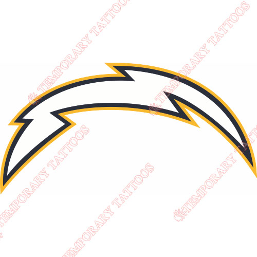 San Diego Chargers Customize Temporary Tattoos Stickers NO.725