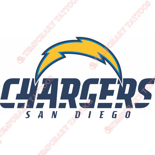 San Diego Chargers Customize Temporary Tattoos Stickers NO.726