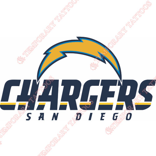 San Diego Chargers Customize Temporary Tattoos Stickers NO.727