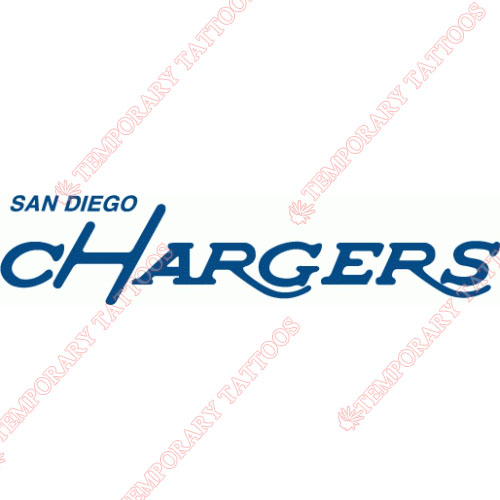 San Diego Chargers Customize Temporary Tattoos Stickers NO.728