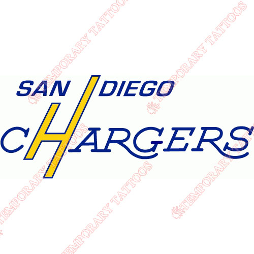 San Diego Chargers Customize Temporary Tattoos Stickers NO.729