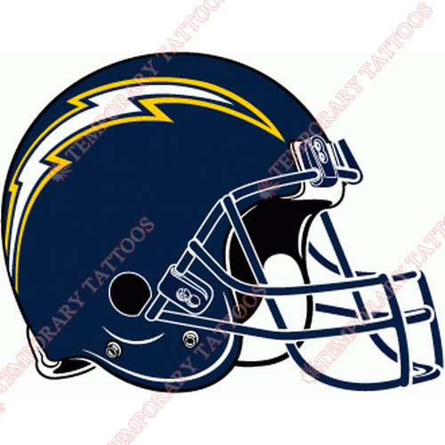 San Diego Chargers Customize Temporary Tattoos Stickers NO.730