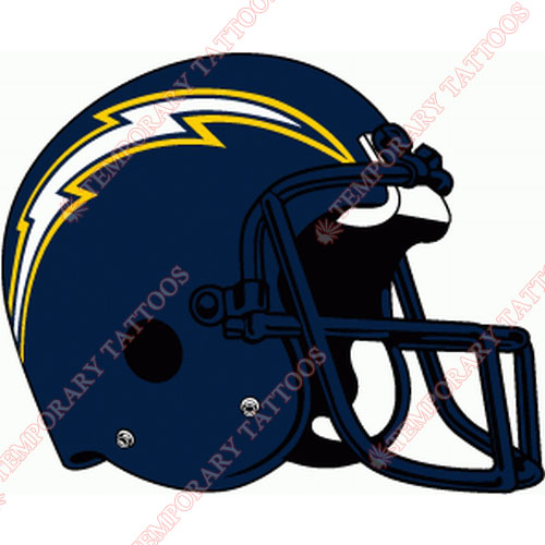San Diego Chargers Customize Temporary Tattoos Stickers NO.731