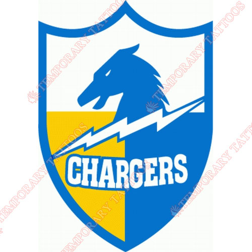 San Diego Chargers Customize Temporary Tattoos Stickers NO.733