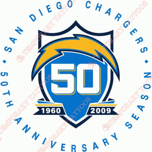 San Diego Chargers Customize Temporary Tattoos Stickers NO.734