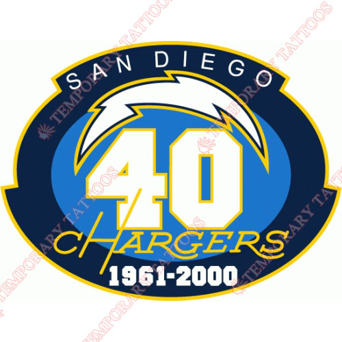San Diego Chargers Customize Temporary Tattoos Stickers NO.735
