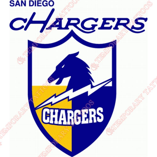 San Diego Chargers Customize Temporary Tattoos Stickers NO.738