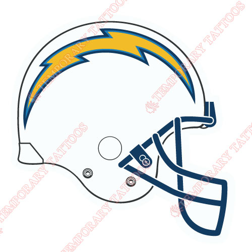 San Diego Chargers Customize Temporary Tattoos Stickers NO.741
