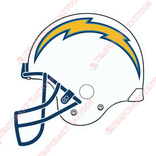 San Diego Chargers Customize Temporary Tattoos Stickers NO.742