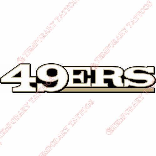 San Francisco 49ers Customize Temporary Tattoos Stickers NO.743
