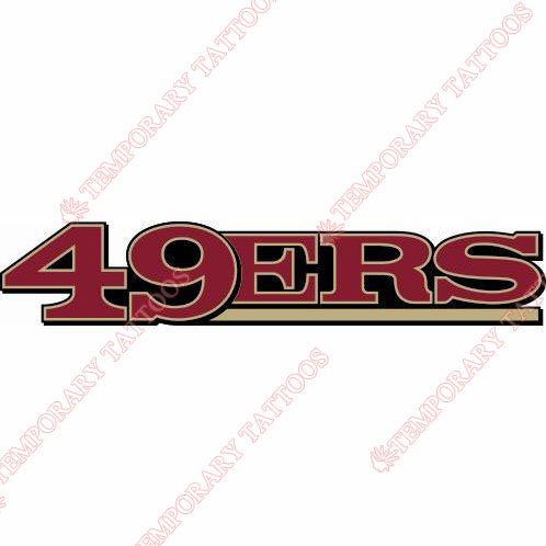 San Francisco 49ers Customize Temporary Tattoos Stickers NO.744
