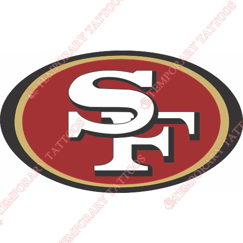 San Francisco 49ers Customize Temporary Tattoos Stickers NO.745