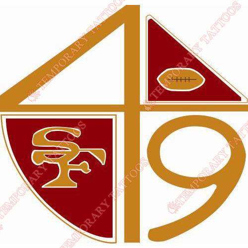 San Francisco 49ers Customize Temporary Tattoos Stickers NO.746