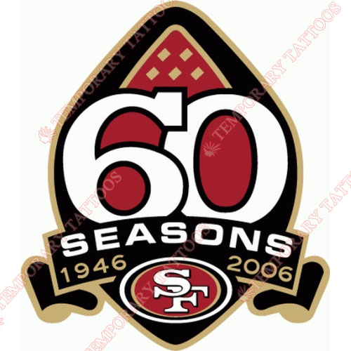 San Francisco 49ers Customize Temporary Tattoos Stickers NO.747