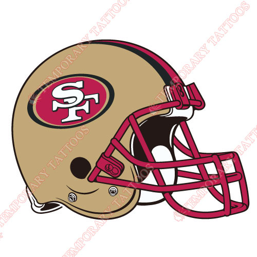 San Francisco 49ers Customize Temporary Tattoos Stickers NO.748