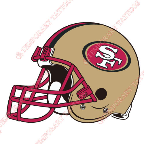 San Francisco 49ers Customize Temporary Tattoos Stickers NO.749