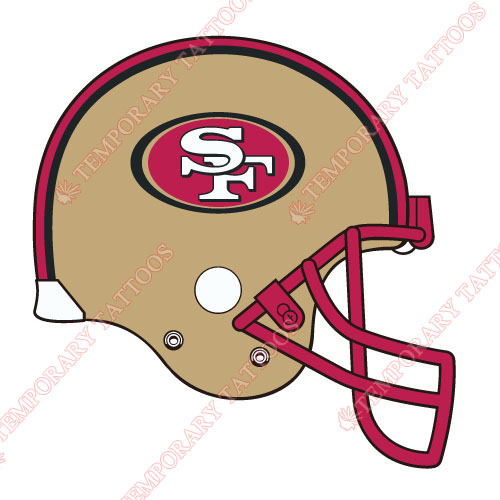 San Francisco 49ers Customize Temporary Tattoos Stickers NO.750