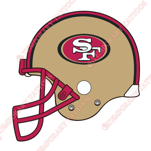 San Francisco 49ers Customize Temporary Tattoos Stickers NO.751