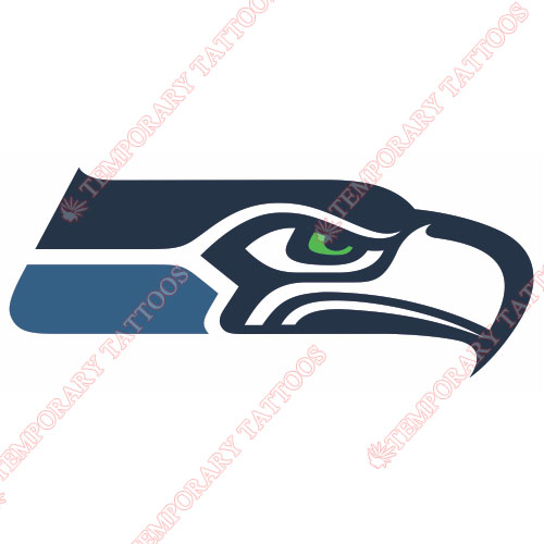 Seattle Seahawks Customize Temporary Tattoos Stickers NO.753