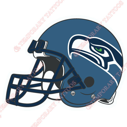 Seattle Seahawks Customize Temporary Tattoos Stickers NO.758